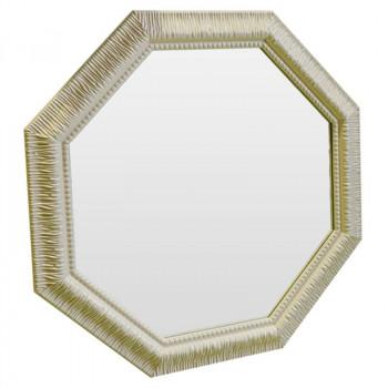 Зеркало восьмиугольное в бежевой раме Cozy beige