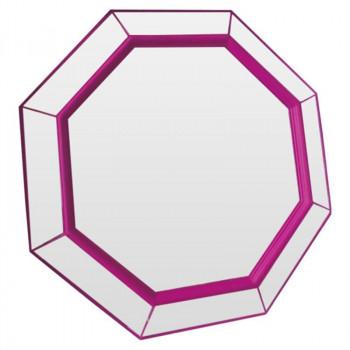 Зеркало восьмиугольное в розовой раме Flirting Фуксия