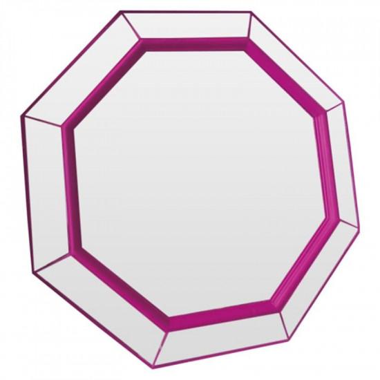 Зеркало восьмиугольное в розовой раме Flirting Фуксия в интернет-магазине ROSESTAR фото
