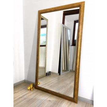 Зеркало большое напольное и настенное в полный рост в раме Dolores Золото