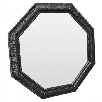 Зеркало восьмиугольное в чёоной раме Black Sparkle