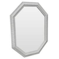 Зеркало восьмиугольное в белой раме White luxury