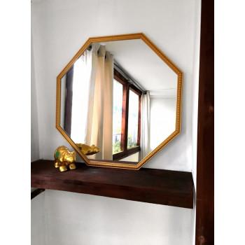 Зеркало восьмиугольное в золотой раме Spirituel gold