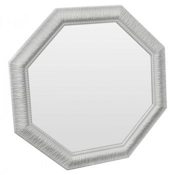 Зеркало восьмиугольное в белой раме Belladonna