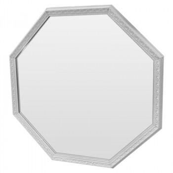 Зеркало восьмиугольное в белой раме White delight