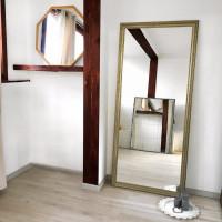 Зеркало большое напольное и настенное в полный рост в серебряной раме Big Silver