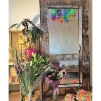 Зеркало большое напольное и настенное в полный рост в бронзовой раме Exultancy