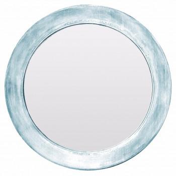 Круглое зеркало в голубой раме Window blue