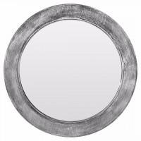 Круглое зеркало в серой раме Window grey