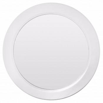 Круглое зеркало в белой раме Window white