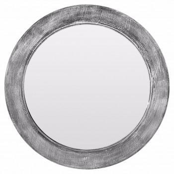 Зеркало круглое в серой раме Big window grey