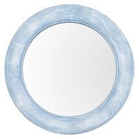 Круглое зеркало в голубой раме Round window