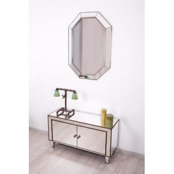 Зеркало восьмиугольное Classic Julian Состаренное серебро