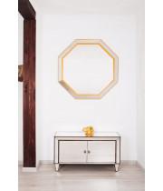 Зеркало восьмиугольное в жёлтой раме Yellow octagon