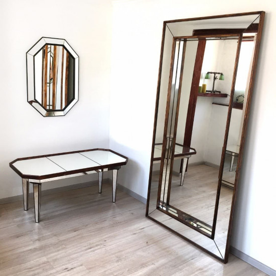 Зеркало большое напольное и настенное в полный рост Dijon Состаренное золото в интернет-магазине ROSESTAR фото