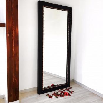 Зеркало большое напольное и настенное в полный рост в чёрной раме Copper