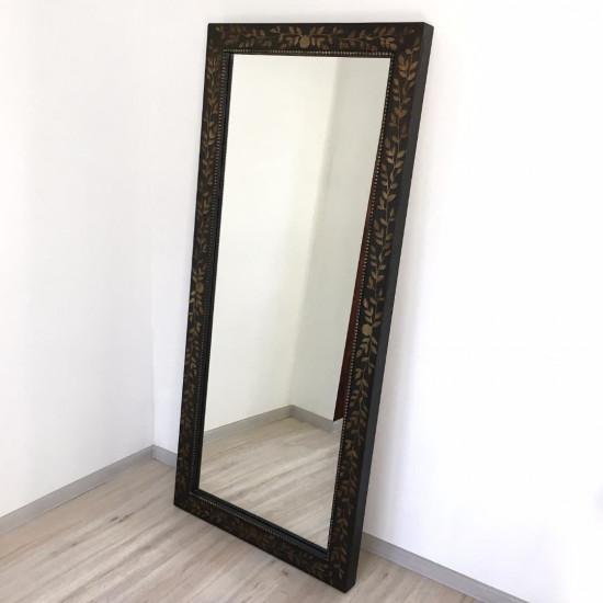 Зеркало большое напольное и настенное в полный рост в чёрной раме Black bronze в интернет-магазине ROSESTAR фото