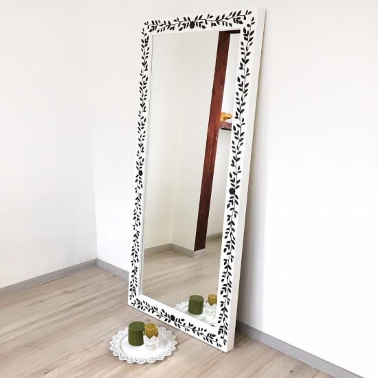 Зеркало большое напольное и настенное в полный рост в чёрно-белой раме Black white в интернет-магазине ROSESTAR фото