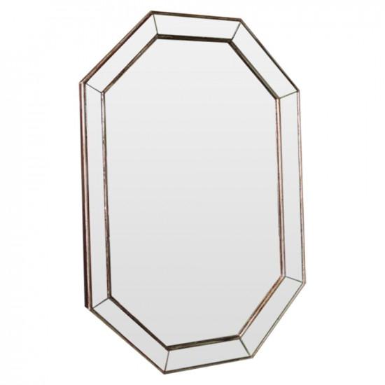 Зеркало восьмиугольное в раме Ludovic base Состаренное серебро в интернет-магазине ROSESTAR фото