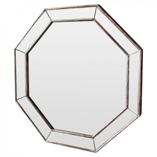 Зеркало восьмиугольное в раме Antique base Состаренное серебро в интернет-магазине ROSESTAR фото