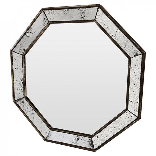 Зеркало восьмиугольное в раме состаренное серебро Antique colossal в интернет-магазине ROSESTAR фото
