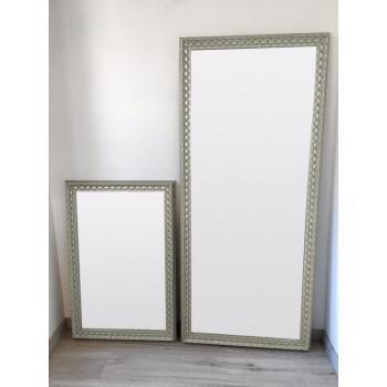 Зеркало большое напольное и настенное в полный рост в серябряной раме Edda