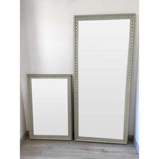 Зеркало большое напольное и настенное в полный рост в серябряной раме Edda в интернет-магазине ROSESTAR фото