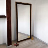 Зеркало большое напольное и настенное в полный рост в чёрной раме Batista