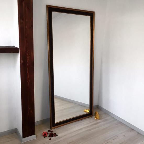 Зеркало большое напольное и настенное в полный рост в чёрной раме Batista в интернет-магазине ROSESTAR фото