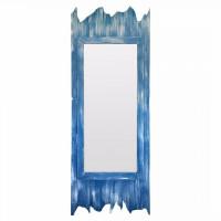 Зеркало большое напольное и настенное в голубой раме Gianni