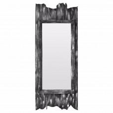Зеркало в фигурной серой раме Gino