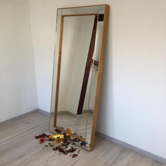 Зеркало большое напольное и настенное в полный рост в зеркальной раме Valentino Золото в интернет-магазине ROSESTAR фото