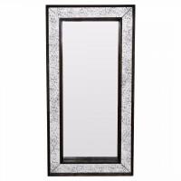Зеркало большое напольное и настенное в полный рост в зеркальной раме Mystic Состаренное серебро