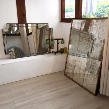 Зеркало большое напольное и настенное в золотой раме Gianluca