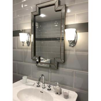Зеркало фигурное восьмиугольное в зеркальной раме Gasparo