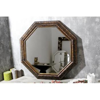 Зеркало восьмиугольное в золотой раме Dario