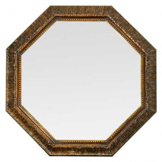 Зеркало восьмиугольное в золотой раме Dario в интернет-магазине ROSESTAR фото