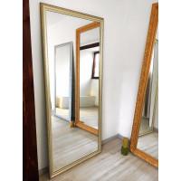 Зеркало большое напольное и настенное в полный рост в золотой раме Alessandro