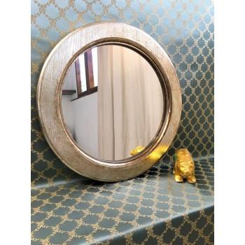 Зеркало круглое в серебряной раме Arthur