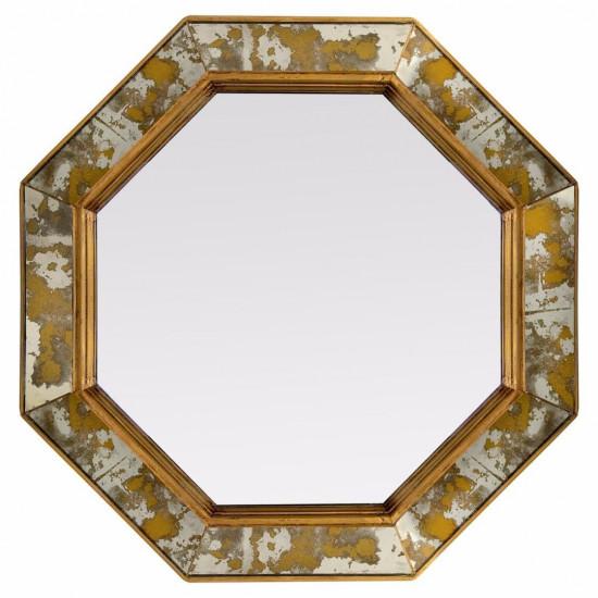 Зеркало восьмиугольное в золотой раме Sebastien в интернет-магазине ROSESTAR фото