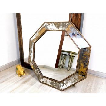Зеркало восьмиугольное Charles Состаренное серебро