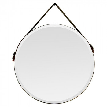 Круглое зеркало на кожаном ремне Didier