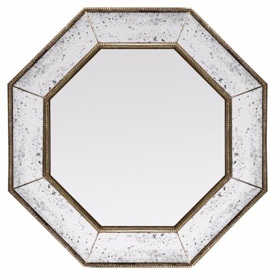 Зеркало восьмиугольное в серебряной раме Angelique в интернет-магазине ROSESTAR фото