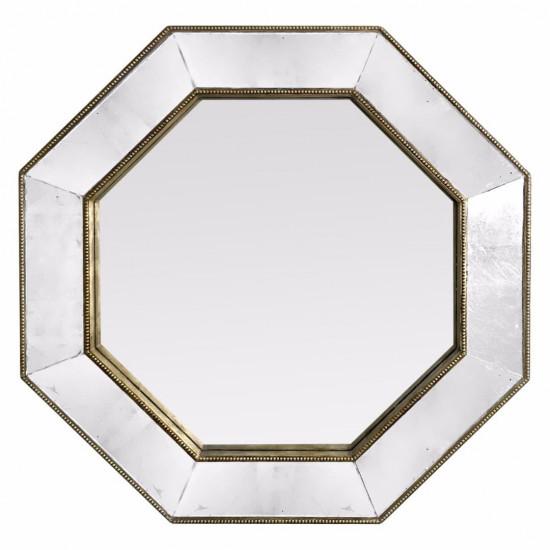 Зеркало восьмиугольное в зеркальной раме Patrick Серебро в интернет-магазине ROSESTAR фото