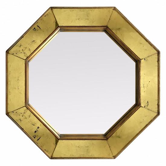 Зеркало восьмиугольное в золотой раме Jean в интернет-магазине ROSESTAR фото