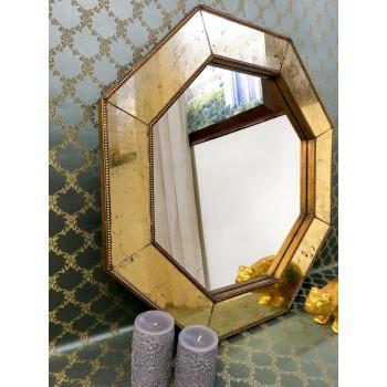 Зеркало восьмиугольное в золотой раме Jean