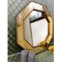 Зеркало восьмиугольное в золотой раме Jean в интернет-магазине ROSESTAR фото 9