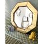 Зеркало восьмиугольное в золотой раме Jean в интернет-магазине ROSESTAR фото 1