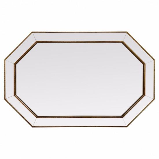 Зеркало восьмиугольное в золотой зеркальной раме Henri в интернет-магазине ROSESTAR фото