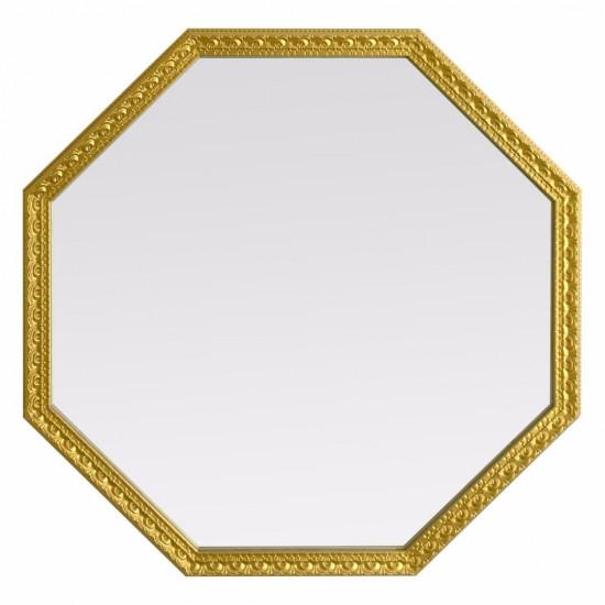 Зеркало восьмиугольное в золотой раме Uslada Gold в интернет-магазине ROSESTAR фото